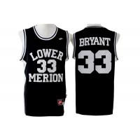 High School Lower Merion Aces 33 Kobe Bryant Black Men Jersey