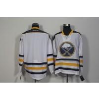 NHL Sabres Blank White Men Jersey