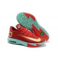 Nike KD 6 Red Green Basketball Mens Shoes