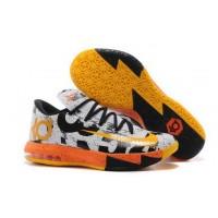 Nike KD 6 MVP White Black Orange Basketball Mens Shoes