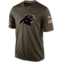 Nike Carolina Panthers Salute To Service Green NFL Men Dri-FIT T-Shirt