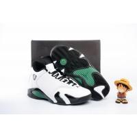 Air Jordan 14 White Black Green Shoes