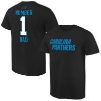 NFL Carolina Panthers Mens Pro Line Black Number 1 Dad T-shirt