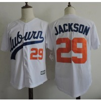 NCAA Auburn Tigers 29 Bo Jackson White Baseball Men Jersey