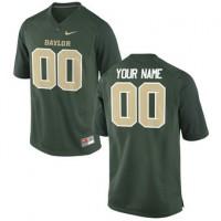 Nike Baylor Bears Custom Football Green Jersey