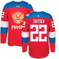 Hockey Team Russia 22 Nikita Zaitsev 2016 World Cup Of Red Men Jersey