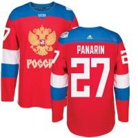 Hockey Team Russia 27 Artemi Panarin 2016 World Cup Of Red Men Jersey