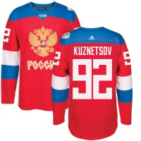 Hockey Team Russia 92 Evgeny Kuznetsov 2016 World Cup Of Red Men Jersey