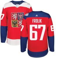Hockey Team Czech Republic 67 Michael Frolik 2016 World Cup Of Red Men Jersey