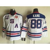 Hockey Team USA 88 Patrick Kane White 2010 1960 Throwback Nike Youth Jersey