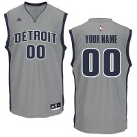 Adidas Detroit Pistons Grey Personalized NBA Customized Jersey
