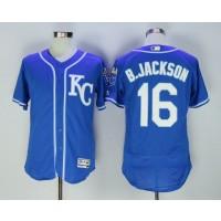 MLB Royals 16 Bo Jackson Blue Flexbase Men Jersey