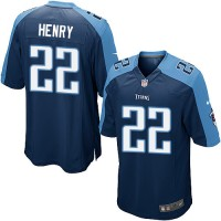 Nike Titans 22 Derrick Henry Navy Blue Team Color Youth NFL Jersey