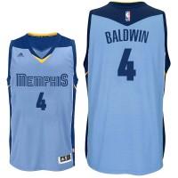 NBA Grizzlies 4 Wade Baldwin Blue Men Jersey