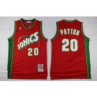 NBA Supersonics 20 Gary Payton Red Men Jersey