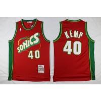 NBA Supersonics 40 Shawn Kemp Red Men Jersey
