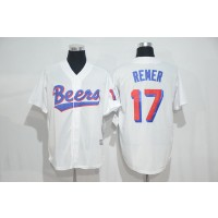 The BASEketball Beers Movie 17 Doug Remer White Button Baseball Jersey