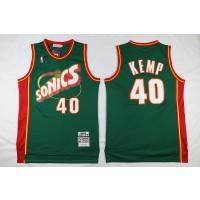 NBA Supersonics 40 Shawn Kemp Swingman Throwback Green Men Jersey