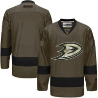 NHL Ducks Salute To Service Green Customized Jersey