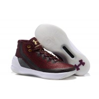Curry 3 Under Armour Burgundy Basketball Mens Shoes