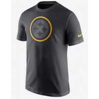 Nike Steelers Black Legend Logo Men's Short Sleeve T-Shirt