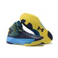 Stephen Curry Blue Yellow Basketball Shoes