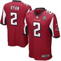 Youth Atlanta Falcons 2 Matt Ryan Nike Red Super Bowl LI Jersey