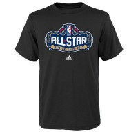 Youth adidas Black 2017 NBA All-Star Game Primary Logo T-Shirt
