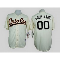 Baltimore Orioles Cream 1954 Turn Back The Clock Men's Customized Jersey