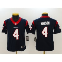 Nike Texans 4 Deshaun Watson Navy Blue Vapor Untouchable Limited Youth Jersey