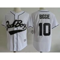 Bad Boy 10 Biggie Smalls White Movie Cool Base Men Jersey