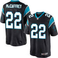 Nike Carolina Panthers 22 Christian McCaffrey 2017 Draft Black Youth Jersey