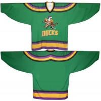 Anaheim Mighty Ducks Blank Green Movie Hockey Men Jersey