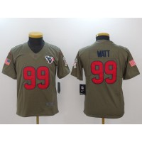 Nike Texans 99 J.J. Watt Olive 2017 Salute To Service Limited Youth Jersey