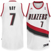 NBA Blazers 7 Brandon Roy White Swingman Adidas Men Jersey