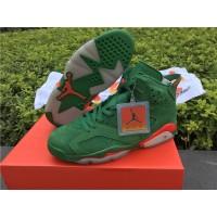Air Jordan 6 Retro NRG G8RD Gatorade Green Suede Basketball Women Shoes