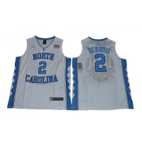 NCAA Heels 2 Joel Berry II  White Basketball Men Jersey
