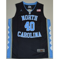 NCAA Heels 40 Harrison Barnes Black Basketball Men Jersey