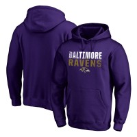 NFL Baltimore Ravens Pro Line Purple Fade Out Pullover Men Hoodie