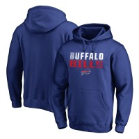 NFL Buffalo Bills Pro Line Royal Fade Out Pullover Men Hoodie
