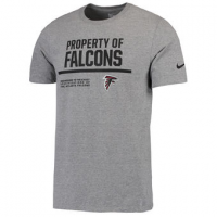 NFL Falcons Nike Property Of T-Shirt Heathered Gray