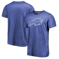 NFL Bills White Logo Shadow Washed T-Shirt