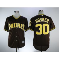 MLB Padres 30 Eric Hosmer Brown Alternate Cool Base Men Jersey