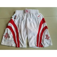 NBA Houston Rockets White Nike Shorts