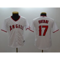 MLB Angels 17 Shohei Ohtani White Cool Base Youth Jersey