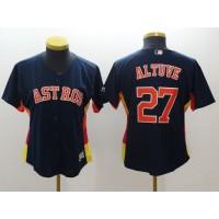 MLB Astros 27 Jose Altuve Navy Blue Women Jersey