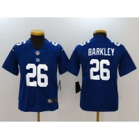 Nike Giants 26 Saquon Barkley Royal Vapor Untouchable Limited Youth Jersey