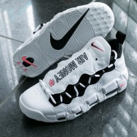 "Nike Air More Money ""Rolling in it"" White Shoes"