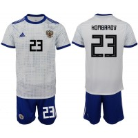 Russia 23 KOMBAROV Away 2018 FIFA World Cup Soccer Men Jersey