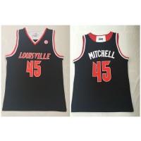 NCAA Louisville Cardinals 45 Donovan Mitchell Black College Basketball Men Jersey